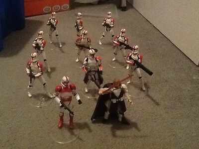 Star Wars Red Stormtroopers 10 and Obi wan