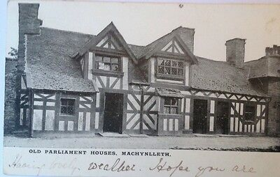 MACHYNLLETH, Old Parliament Houses ( Wrong Description ).Real Photo Postcard.