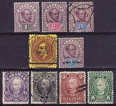 SARAWAK. Issues from 1882-97, 1892 and 1895, mint and used.
