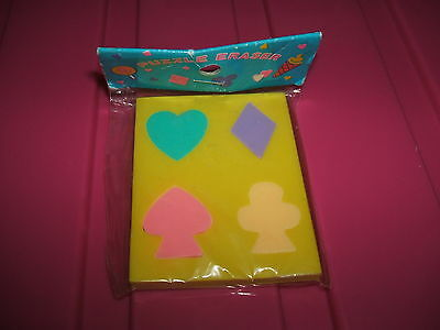 RARE 1980s PLAYING CARD PUZZLE SEALED ERASER RUBBER  - COMBINED POSTAGE