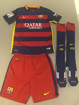 Barcelona Home Kit With Socks - 10 MESSI to back - Age 10-12 Years