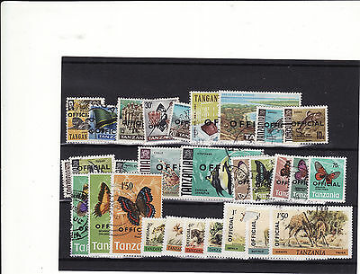 "Tanzania - 1960-80 Selection Of 30 Mainly Used ""official"" Stamps"