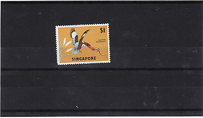 Singapore - 1963 $1 White Breasted Kingfisher Mm