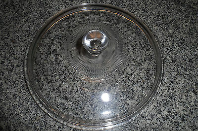 PYREX Glass Crockpot Replacement Lid 8 3/4 Inch Round, Ribbed Top Clear, 624-C