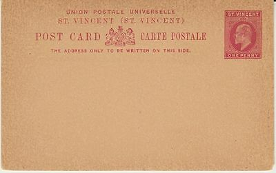 St. Vincent, very old unused Postal Stationery Card