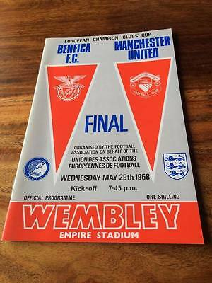 1968 EUROPEAN CUP FINAL Programme BENFICA v MAN UTD MINT