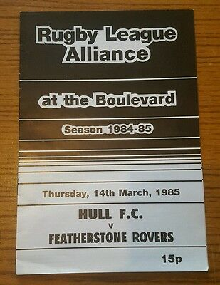 Hull FC A vs. Featherstone Rovers A - 14/3/1985
