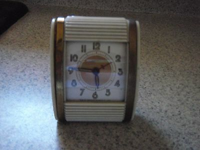 VINTAGE  ART DECO WESTCLOX TRAVEL ALARM CLOCK not working