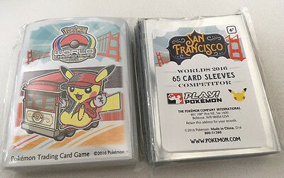 Pokemon 2016 World Championship San Francisco EXCLUSIVE Competitor Card SLEEVES