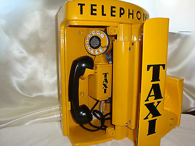 YELLOW CAB TAXI Call Box Telephone Phone Western Electric Gamewell Police Fire