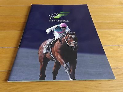 Frankel Career Record Magazine Juddmonte Farms Official 2012 Horseracing