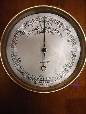 Vintage Brass Tycos Rochester, NY Barometer - Central Scientific Co. - Steampunk
