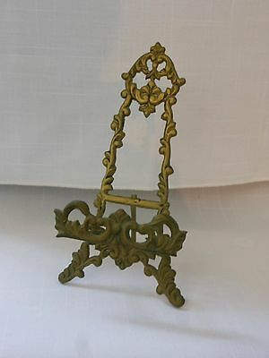 Small Brass Plate/Picture Stand/Holder