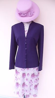 Special Occasion Outfit Size 10 by Jacques Vert & Isle. (Dress Jacket & Hat)