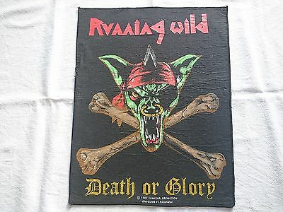 Running Wild Death or Glory 1989 Drakkar vintage Back Patch Backpatch (Helloween
