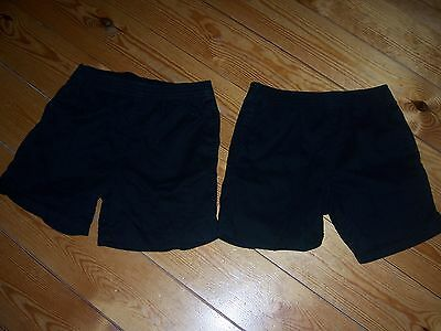 2 Pairs George 9-10 Years Black PE Shorts, Height 135-140cm