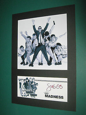 Madness A4 Photo Mount Signed Reprint Suggs Graham Mcpherson Ska Ticket Cd