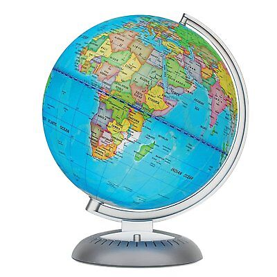Illuminated World Globe for Kids With Stand, LED for Illuminated Night View