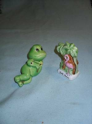 Vintage Used Set  Salt And Pepper Set Souvenir Gulf Shores Palm Trees And Frog