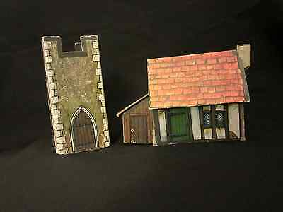 Warhammer house and tower scenery from 4th edition box Games Workshop