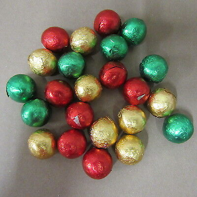SOLID MILK CHOCOLATE FOILED MIXED COLOURED CHRISTMAS BALLS  X 100 chocolate..,,,