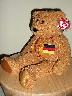 Germania German Bear Ty Beanie Buddie 1st 1990 Stored since Purchase. Tag/Cover.