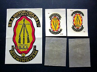 Lot of 3 Vintage BSA Motorcycle Decals / Transfers
