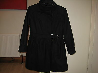 M&S AUTOGRAPH GIRLS WOOL BLACK COAT AGE 11/12 YRS 152cm