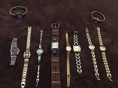 Large Women's Watch Lot!  Fossil, Relic, Timex, Elign, Anne Klein.
