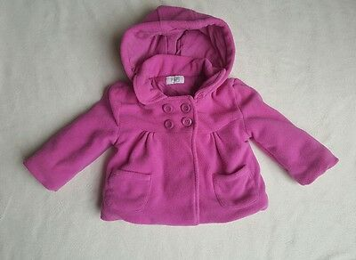 Girls fleece padded jacket coat 12-18 months