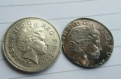2p Two Pence undated error coin. Wrong planchet. 4.4 grams. RARE! Wrong colour