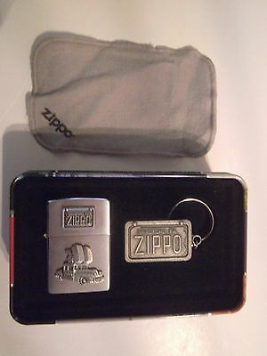 ZIPPO  ANNIVERSARY Lighter & Key ring CAR 1998 COLLECTIBLE of the YEAR Booklet