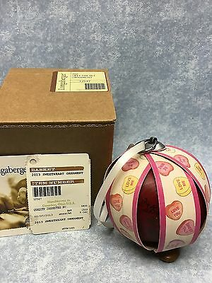 Longaberger Ornament Sweetheart Org box and tags Valentine's Day