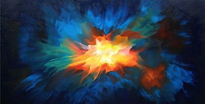 Large Art Abstract Oil Painting Contemporary Modern Tara Baden Gallery Canvas