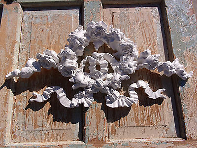 Shabby & Chic  Furniture Appliques * Huge Rose Wreath * Home Decor * New