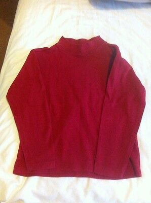 polo neck t shirt boys unisex girls 4 years red burgundy tissaia clothes 4a