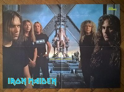 IRON MAIDEN - THE X FACTOR - fold out Metal Hammer poster / ANATHEMA poster 1995