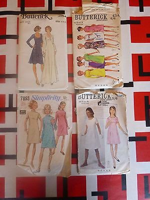 vintage 1960s 70s sewing patterns all size 16 bust 36