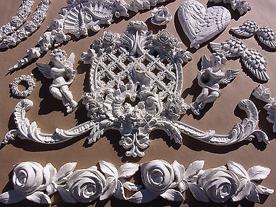 Shabby & Chic Furniture Appliques *huge *  Rose Moulding! New For 2017