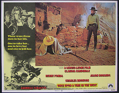 Once Upon A Time In The West Orig Lobby Card #3 Sergio Leone Film, Henry Fonda