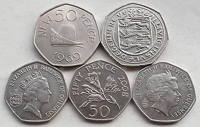 GUERNSEY 50p, Fifty Pence Coins * Choice of Year * Last Few