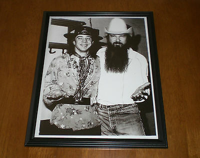 Stevie Ray Vaughan Zz Top Framed B& W Print - Nice