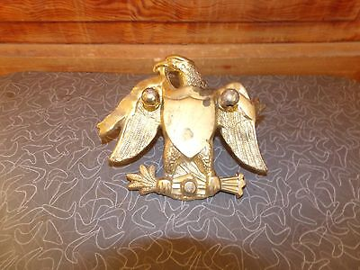 Vintage Large Solid Brass Eagle Door Knocker
