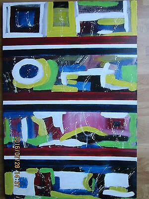 24 By 36 Orignal Modern Abstract Painting By Jean Martin