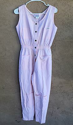 IDEAS Vintage 80s Baby Pink Jumpsuit Romper Sleeveless Women's Size Large EUC!
