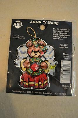 Counted Cross Stitch Embroidery Kit: Christmas Angel Bear FREEPOST IN AUSTRALIA