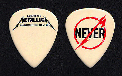Metallica James Hetfield Through The Never White Ultex Guitar Pick 2013 Tour