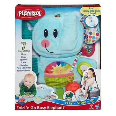 New Hasbro Playskool Fold'n Go Busy Elephant Blue B2263