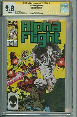 * ALPHA FLIGHT #51 CGC 9.8 SS Signed by Jim Lee (1428245001) *