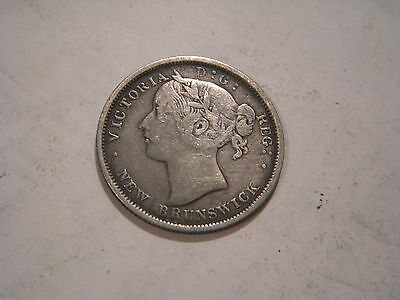1864 New Brunswick - 20 Cents Silver Coin